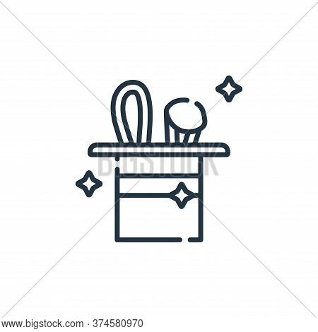 magic show icon isolated on white background from circus collection. magic show icon trendy and mode