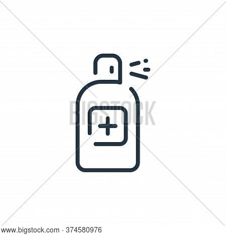 bottle icon isolated on white background from coronavirus collection. bottle icon trendy and modern