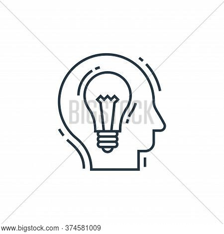 creative idea icon isolated on white background from environment and eco collection. creative idea i