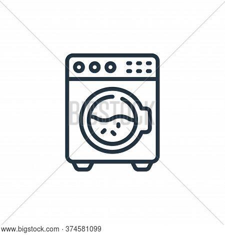 washing machine icon isolated on white background from hygiene collection. washing machine icon tren