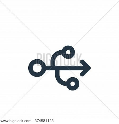 usb flash drive icon isolated on white background from user interface collection. usb flash drive ic