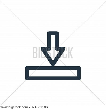 download icon isolated on white background from marketing business collection. download icon trendy