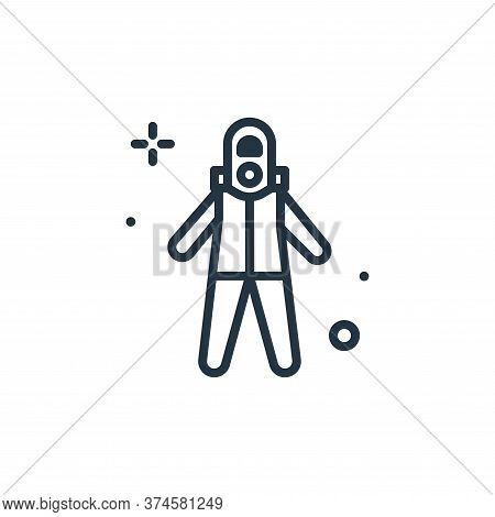suit icon isolated on white background from coronavirus collection. suit icon trendy and modern suit