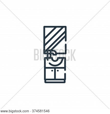 bathroom cabinet icon isolated on white background from hairdressing and barber shop collection. bat