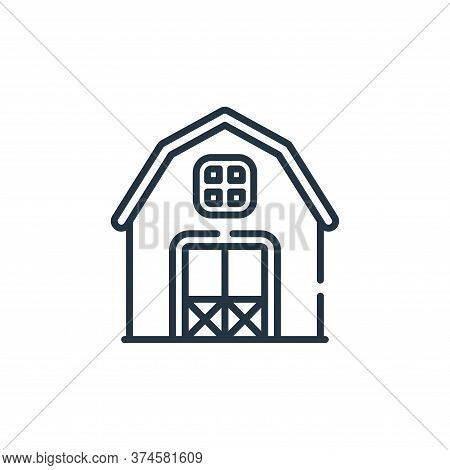 barn icon isolated on white background from smart farm collection. barn icon trendy and modern barn