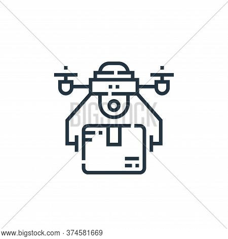 drone delivery icon isolated on white background from delivery collection. drone delivery icon trend