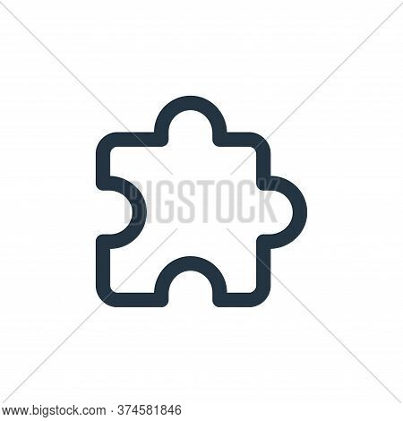 puzzle icon isolated on white background from user interface collection. puzzle icon trendy and mode