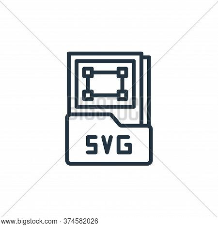 svg file icon isolated on white background from graphic design collection. svg file icon trendy and