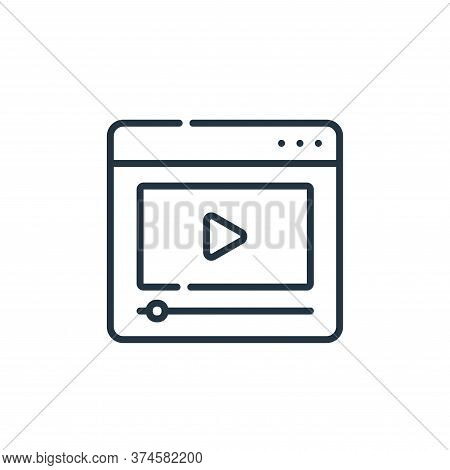 video icon isolated on white background from telecommuting collection. video icon trendy and modern