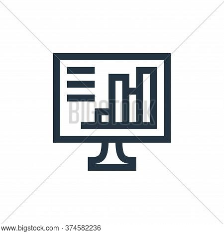 computer icon isolated on white background from job resume collection. computer icon trendy and mode