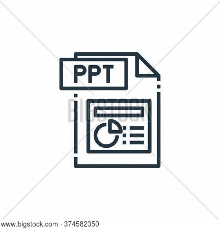 ppt file icon isolated on white background from file type collection. ppt file icon trendy and moder