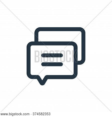 message icon isolated on white background from interface collection. message icon trendy and modern