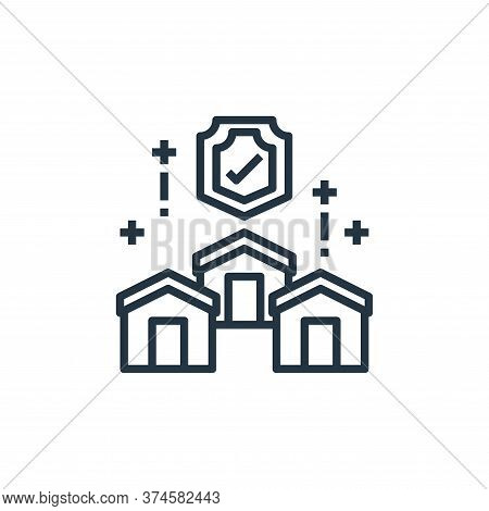 home security icon isolated on white background from work from home collection. home security icon t