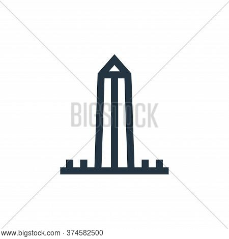 washington monument icon isolated on white background from united states of america collection. wash