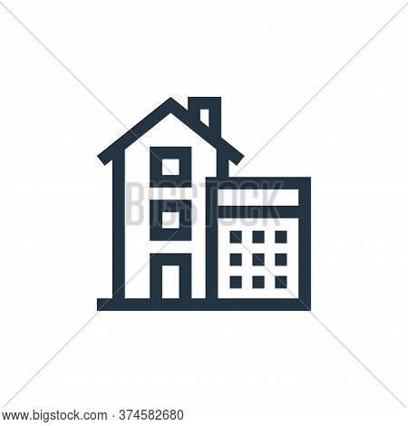 calculations icon isolated on white background from real estate collection. calculations icon trendy