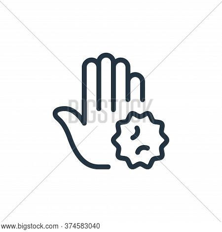 Contagious icon isolated on white background from coronavirus collection. Contagious icon trendy and