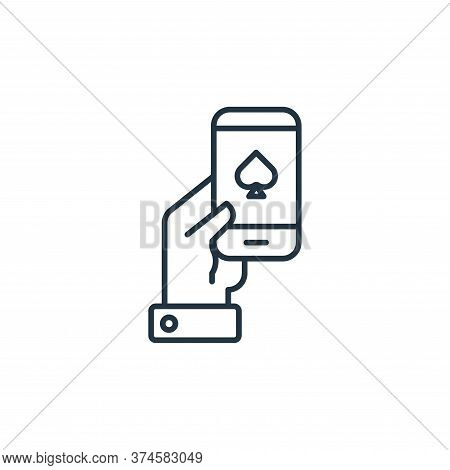 smartphone icon isolated on white background from casino collection. smartphone icon trendy and mode