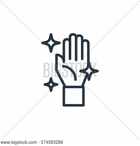hand icon isolated on white background from pandemic collection. hand icon trendy and modern hand sy