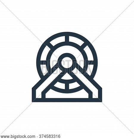 hamster wheel icon isolated on white background from pet shop collection. hamster wheel icon trendy