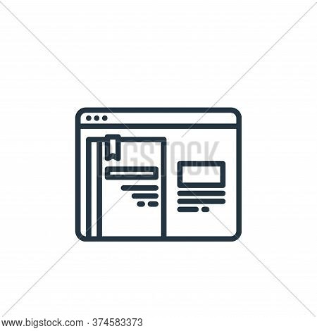 browser icon isolated on white background from elearning collection. browser icon trendy and modern