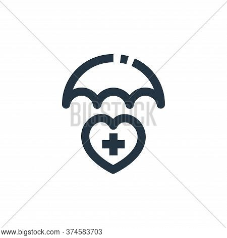 health icon isolated on white background from medical kit collection. health icon trendy and modern