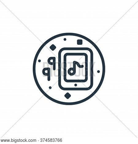 tablet icon isolated on white background from music and sound collection. tablet icon trendy and mod
