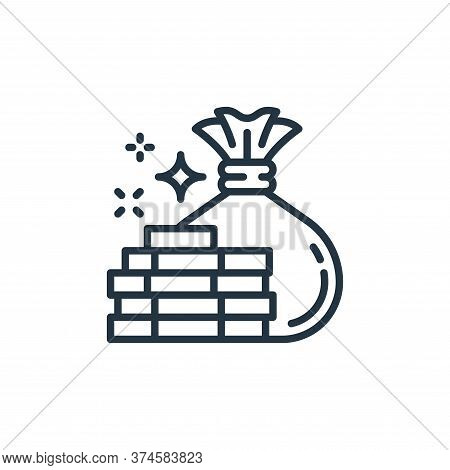 money icon isolated on white background from money and currency collection. money icon trendy and mo