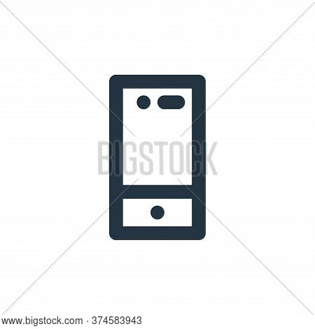 smartphone icon isolated on white background from electronics collection. smartphone icon trendy and