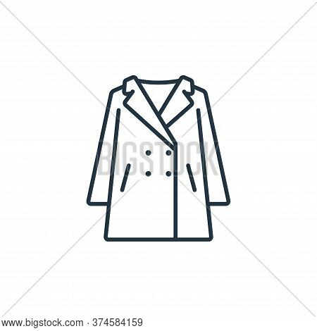 overcoat icon isolated on white background from clothes and outfit collection. overcoat icon trendy