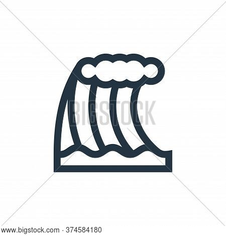 tsunami icon isolated on white background from news collection. tsunami icon trendy and modern tsuna