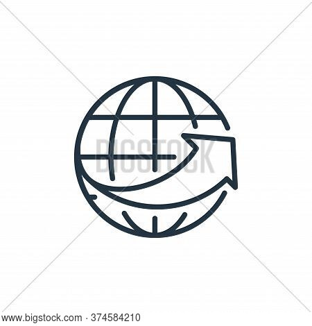 global network icon isolated on white background from ecommerce collection. global network icon tren