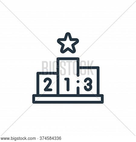podium icon isolated on white background from autoracing collection. podium icon trendy and modern p