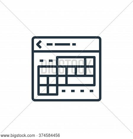 calendar icon isolated on white background from travel collection. calendar icon trendy and modern c