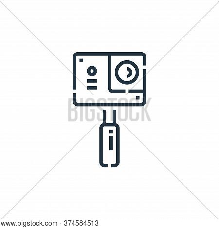 action camera icon isolated on white background from videoblogger collection. action camera icon tre