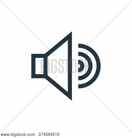 sound icon isolated on white background from web essentials collection. sound icon trendy and modern