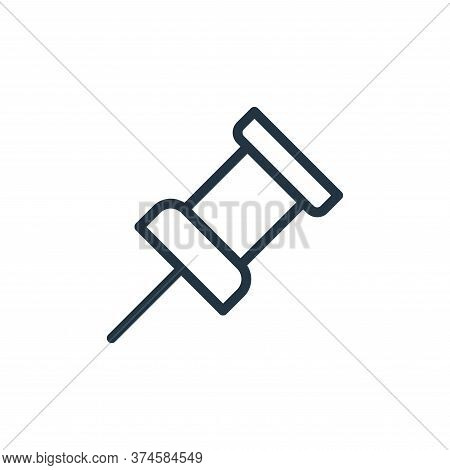 pin icon isolated on white background from work office supply collection. pin icon trendy and modern