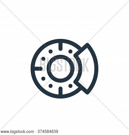 disc brake icon isolated on white background from auto racing collection. disc brake icon trendy and