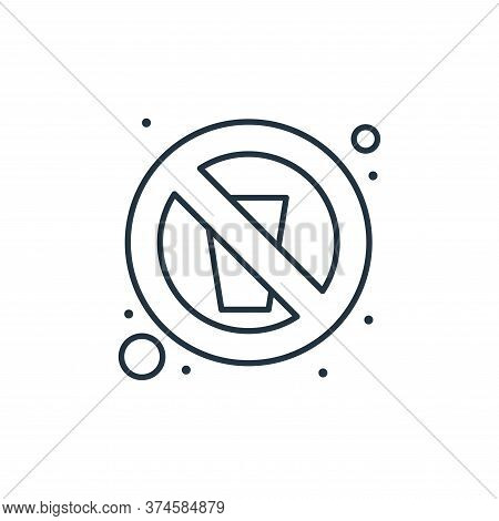 no water icon isolated on white background from islam and ramadan collection. no water icon trendy a