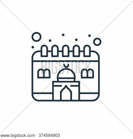 calendar icon isolated on white background from islam and ramadan collection. calendar icon trendy a