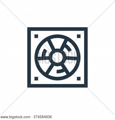 cooling fan icon isolated on white background from industrial process collection. cooling fan icon t