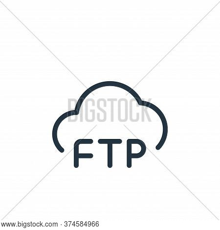 cloud icon isolated on white background from data transfer collection. cloud icon trendy and modern