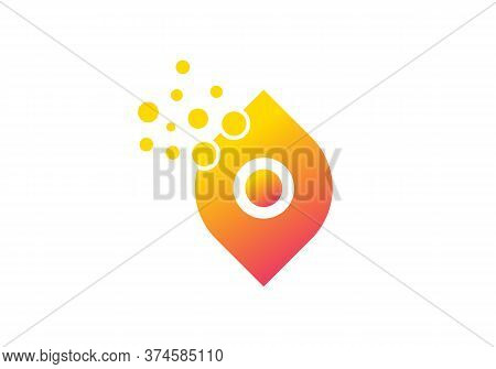 Awesome Letter O Colorful Bubbles Vector. O Letter Logo Design Vector With Dots And Leaf Concept.