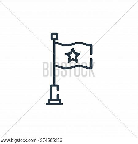 flag icon isolated on white background from circus collection. flag icon trendy and modern flag symb