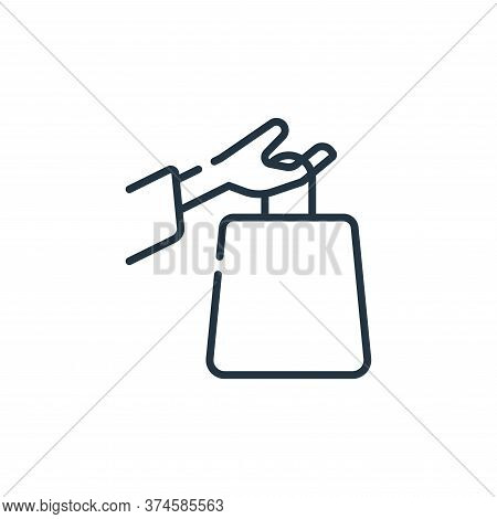 shopping bag icon isolated on white background from free time collection. shopping bag icon trendy a