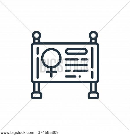 sign icon isolated on white background from womens day collection. sign icon trendy and modern sign