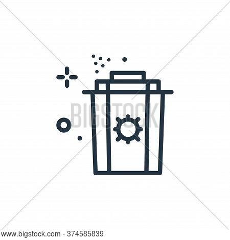 garbage icon isolated on white background from coronavirus collection. garbage icon trendy and moder