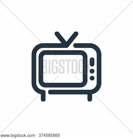 television icon isolated on white background from video collection. television icon trendy and moder
