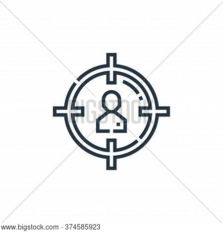 target audience icon isolated on white background from marketing collection. target audience icon tr