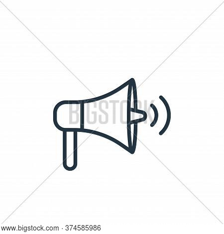 loudspeaker icon isolated on white background from communication collection. loudspeaker icon trendy