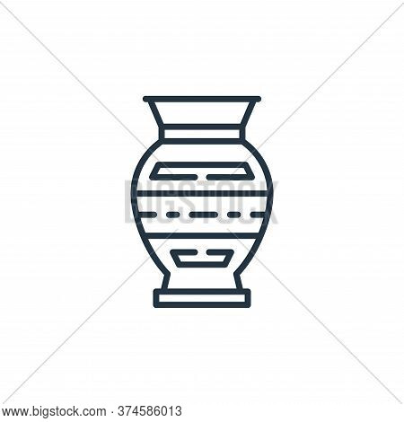 vase icon isolated on white background from desert collection. vase icon trendy and modern vase symb